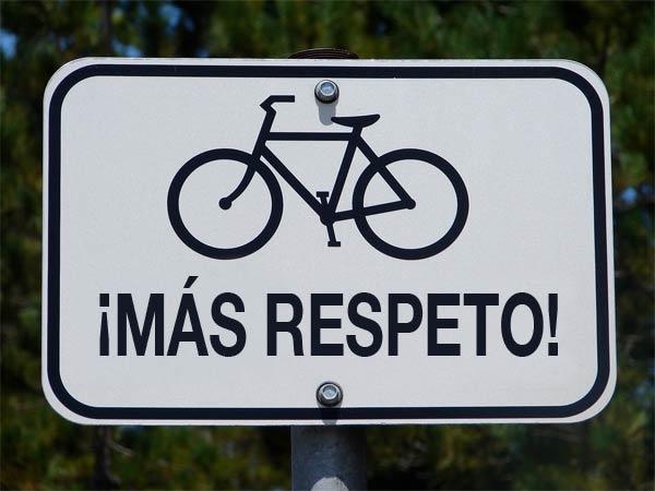 Más respeto al ciclista, pero… tú respetas?